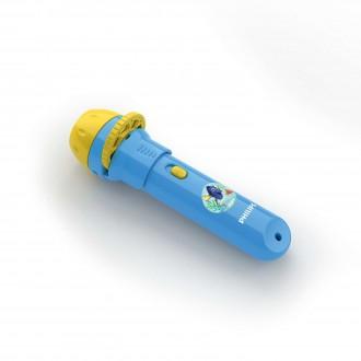 PHILIPS 71788/90/16 | Projector_Finding_Dory Philips hangulatvilágítás vetítő lámpa kapcsoló 1x LED 5lm 2700K kék, többszínű