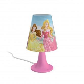 PHILIPS 71795/28/16   Princess Philips asztali lámpa 24,4cm vezeték kapcsoló 1x LED 220lm 2700K pink, többszínű