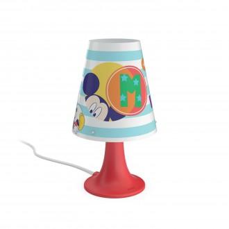 PHILIPS 71795/30/16   Mickey_Mouse Philips asztali lámpa 24,4cm vezeték kapcsoló 1x LED 220lm 2700K piros, többszínű