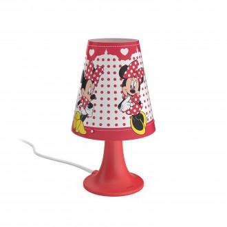 PHILIPS 71795/31/16   Minnie_Mouse Philips asztali lámpa 24,4cm vezeték kapcsoló 1x LED 220lm 2700K piros, többszínű