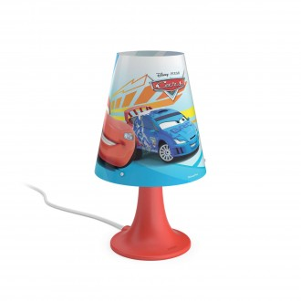 PHILIPS 71795/32/16 | Cars Philips asztali lámpa 24,4cm vezeték kapcsoló 1x LED 220lm 2700K piros, többszínű