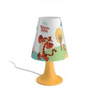 PHILIPS 71795/34/16   Winnie_the_Pooh Philips asztali lámpa 24,4cm vezeték kapcsoló 1x LED 220lm 2700K sárga, többszínű
