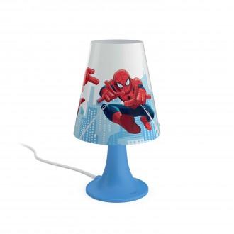 PHILIPS 71795/40/16   Spiderman Philips asztali lámpa 24,4cm vezeték kapcsoló 1x LED 220lm 2700K kék, többszínű