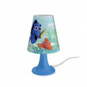 PHILIPS 71795/90/16   Finding_Dory Philips asztali lámpa 24,4cm vezeték kapcsoló 1x LED 220lm 2700K kék, többszínű