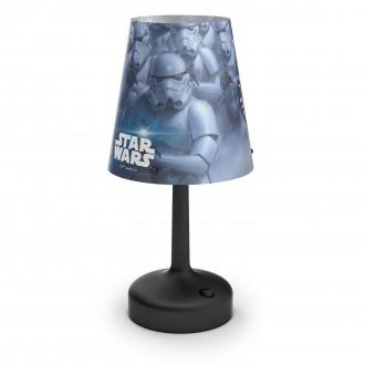 PHILIPS 71796/30/16 | Star-Wars Philips asztali lámpa 24,9cm kapcsoló 1x LED 2700K fekete, többszínű