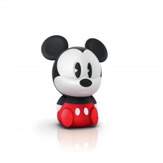 PHILIPS 71883/32/P0 | SoftPal_Mickey Philips hordozható lámpa kapcsoló 1x LED 5lm 3000K piros, fekete, fehér