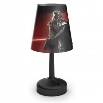 PHILIPS 71889/30/16 | Star_Wars_Darth_Vader Philips asztali lámpa 24,9cm kapcsoló 1x LED 2700K fekete, többszínű