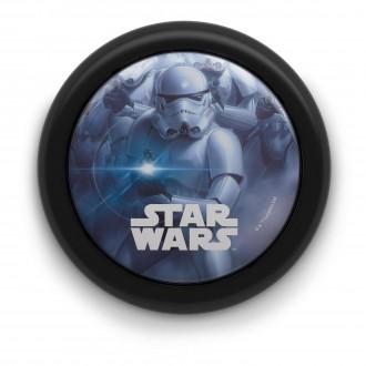 PHILIPS 71924/30/P0 | Star-Wars Philips fali lámpa kapcsoló 1x LED 5lm 2700K fekete, többszínű