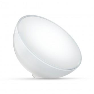 PHILIPS 76020/31/P7 | PHILIPS-hue-Ambient Philips hordozható hue Go okos világítás kerek kapcsoló szabályozható fényerő, színváltós, állítható színhőmérséklet, Bluetooth 1x LED 520lm 2000 <-> 6500K fehér