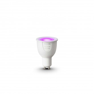 PHILIPS 8718696485880 | GU10 6,5W Philips spot LED fényforrás hue okos világítás 250lm 2200 <-> 6500K szabályozható fényerő, színváltós 160° CRI>80