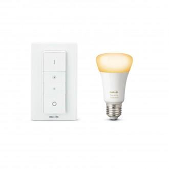 PHILIPS 8718696678404 | PHILIPS-hue Philips kezdőcsomag hue DIM hordozható kapcsoló + E27 A60 hue WA LED fényforrás okos világítás normál A19 távirányító szabályozható fényerő, állítható színhőmérséklet 1x E27 806lm 2200 <-> 6500K fehér
