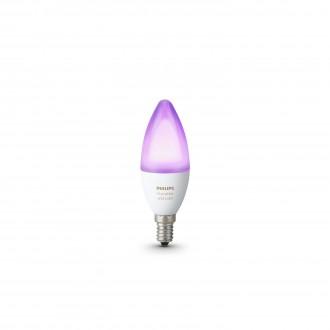 PHILIPS 8718696695166 | E14 6W Philips gyertya B39 LED fényforrás hue okos világítás 470lm 2200 <-> 6500K szabályozható fényerő, színváltós