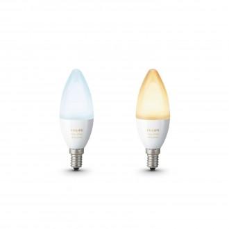 PHILIPS 8718696695265 | E14 6W Philips gyertya B39 LED fényforrás hue okos világítás 470lm 2200 <-> 6500K szabályozható fényerő, állítható színhőmérséklet, 2 darabos szett