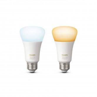 PHILIPS 8718696729083 | E27 9,5W Philips normál A19 LED fényforrás hue okos világítás 806lm 2200 <-> 6500K szabályozható fényerő, állítható színhőmérséklet, 2 darabos szett 160° CRI>80