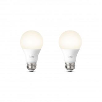 PHILIPS 8718696729113 | E27 9,5W Philips normál A60 LED fényforrás hue okos világítás 806lm 2700K szabályozható fényerő, 2 darabos szett 180° CRI>80