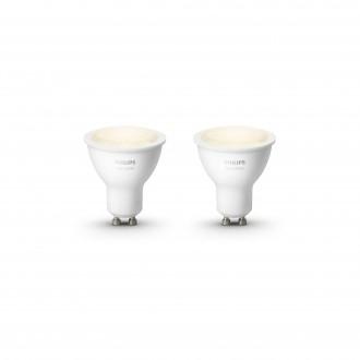 PHILIPS 8718699605537 | GU10 5,5W Philips spot LED fényforrás hue okos világítás 300lm 2700K szabályozható fényerő, 2 darabos szett 46° CRI>80