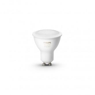 PHILIPS 8718699629250 | GU10 5,7W -> 50W Philips spot LED fényforrás hue okos világítás 350lm 2200 <-> 6500K szabályozható fényerő, színváltós, állítható színhőmérséklet, Bluetooth, 2 darabos szett CRI>80
