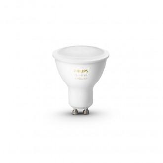 PHILIPS 8718699629298 | GU10 5,5W -> 50W Philips spot LED fényforrás hue okos világítás 350lm 2200 <-> 6500K szabályozható fényerő, állítható színhőmérséklet, Bluetooth, 2 darabos szett CRI>80