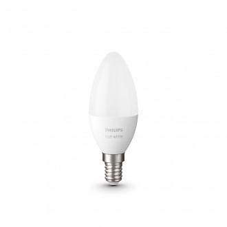 PHILIPS 8718699671273 | E14 5,5W -> 40W Philips gyertya B39 LED fényforrás hue okos világítás 470lm 2700K szabályozható fényerő, Bluetooth, 2 darabos szett CRI>80
