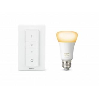 PHILIPS 8718699673208 | PHILIPS-hue Philips kezdőcsomag hue DIM hordozható kapcsoló + E27 A60 hue WA LED fényforrás okos világítás normál A60 távirányító szabályozható fényerő, állítható színhőmérséklet, Bluetooth 1x E27 806lm 2200 <-> 6500K fehér