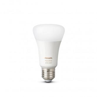 PHILIPS 8718699673284 | E27 9W -> 60W Philips normál A60 LED fényforrás hue okos világítás 806lm 2200 <-> 6500K szabályozható fényerő, színváltós, állítható színhőmérséklet, Bluetooth, 2 darabos szett CRI>80