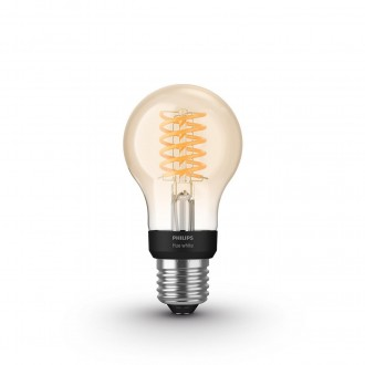 PHILIPS 8718699688820 | E27 7W -> 40W Philips normál A60 LED fényforrás hue okos világítás 550lm 2100K szabályozható fényerő, Bluetooth CRI>80