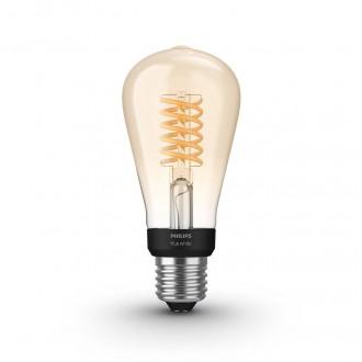 PHILIPS 8718699688868 | E27 7W -> 40W Philips Edison ST64 LED fényforrás hue okos világítás 550lm 2100K szabályozható fényerő, Bluetooth CRI>80