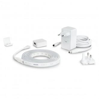 PHILIPS 8718699703424 | PHILIPS-hue-LightStrip Philips LED szalag hue okos világítás szabályozható fényerő, színváltós, állítható színhőmérséklet, Bluetooth 1x LED 1600lm 2000 <-> 6500K fehér