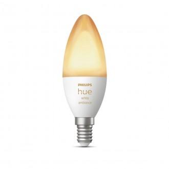 PHILIPS 8718699726294 | E14 6W Philips gyertya B39 LED fényforrás hue okos világítás 470lm 2200 <-> 6500K szabályozható fényerő, Bluetooth
