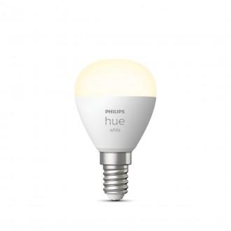 PHILIPS 8719514266889 | E14 5,5W -> 40W Philips kis gömb P45 LED fényforrás hue okos világítás 470lm 2700K szabályozható fényerő, Bluetooth CRI>80
