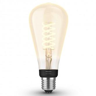 PHILIPS 8719514279179 | E27 7W -> 40W Philips Edison ST72 LED fényforrás hue okos világítás 550lm 2100K szabályozható fényerő, Bluetooth CRI>80