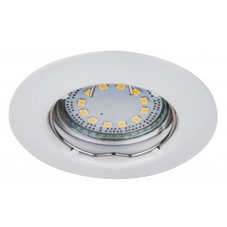 RABALUX 1046 | Lite Rabalux beépíthető lámpa 3 darabos szett Ø82mm 82x82mm 1x GU10 720lm 3000K IP44/40 fehér