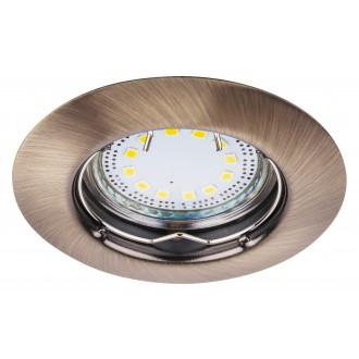 RABALUX 1048 | Lite Rabalux beépíthető lámpa 3 darabos szett Ø82mm 82x82mm 1x GU10 720lm 3000K IP44/40 bronz