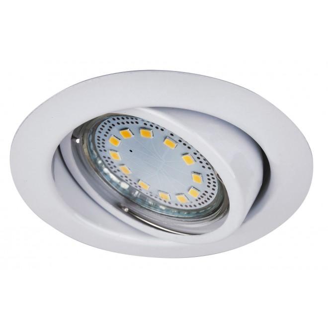 RABALUX 1049 | Lite Rabalux beépíthető lámpa 3 darabos szett, billenthető Ø86mm 86x86mm 1x GU10 720lm 3000K IP40 fehér