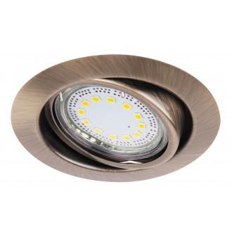 RABALUX 1051 | Lite Rabalux beépíthető lámpa 3 darabos szett, billenthető Ø86mm 86x86mm 1x GU10 720lm 3000K IP40 bronz