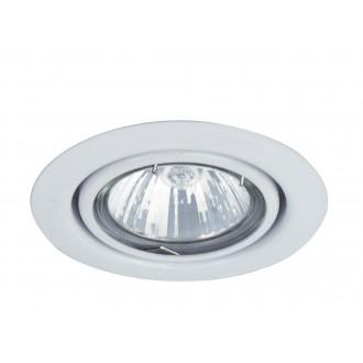 RABALUX 1091 | SpoRelight Rabalux beépíthető lámpa billenthető Ø86mm 86x86mm 1x MR16 / GU5.3 fehér