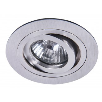 RABALUX 1116 | SpoFashion7 Rabalux beépíthető lámpa billenthető Ø92mm 92x92mm 1x MR16 / GU5.3 csiszolt alumínium