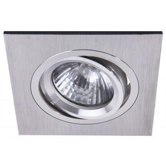 RABALUX 1117 | SpoFashion7 Rabalux beépíthető lámpa billenthető 92x92mm 1x MR16 / GU5.3 csiszolt alumínium
