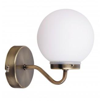 RABALUX 1302 | Togo Rabalux falikar lámpa 1x E14 IP44 bronz, fehér