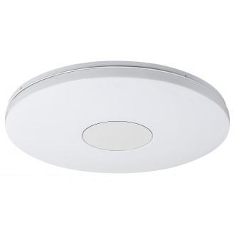 RABALUX 1428 | Nolan Rabalux mennyezeti lámpa kerek távirányító szabályozható fényerő, állítható színhőmérséklet, időkapcsoló 1x LED 3900lm 3000 <-> 6500K fehér, ezüst