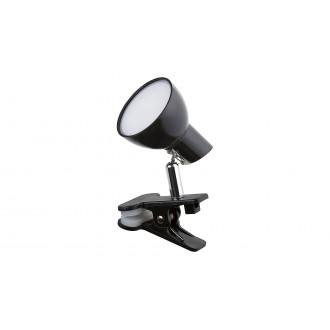 RABALUX 1478 | Noah Rabalux csiptetős lámpa vezeték kapcsoló elforgatható alkatrészek 1x LED 360lm 3000K fekete