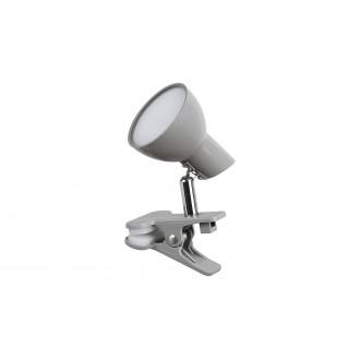 RABALUX 1480 | Noah Rabalux csiptetős lámpa vezeték kapcsoló elforgatható alkatrészek 1x LED 360lm 3000K szürke