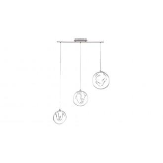 RABALUX 1494 | Chrissy Rabalux függeszték lámpa 1x LED 1400lm 4000K ezüst, króm, kristály