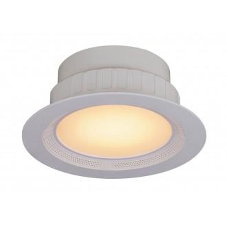 RABALUX 1503 | Shea Rabalux beépíthető lámpa kerek távirányító hangszóró, szabályozható fényerő, színváltós, állítható színhőmérséklet Ø195mm 195x195mm 1x LED 1050lm + 1x LED 3000 <-> 6000K fehér