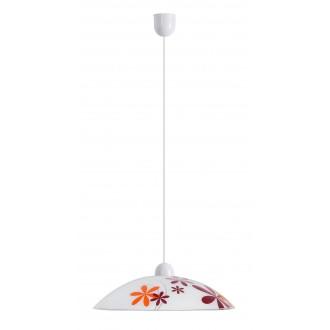 RABALUX 1800 | Iris Rabalux függeszték lámpa 1x E27 többszínű, fehér
