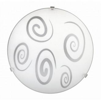 RABALUX 1822 | Spiral Rabalux fali, mennyezeti lámpa 1x E27 fehér, áttetsző