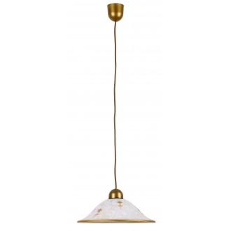 RABALUX 1955 | Art-Flower Rabalux függeszték lámpa 1x E27 fehér alabástrom, bronz