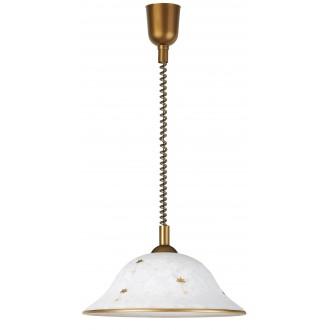RABALUX 1956 | Art-Flower Rabalux függeszték lámpa állítható magasság 1x E27 fehér alabástrom, bronz