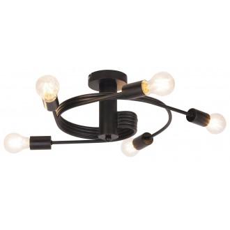 RABALUX 2096 | Carly Rabalux mennyezeti lámpa 5x E27 matt fekete