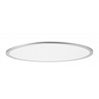 RABALUX 2193 | Taleb Rabalux mennyezeti lámpa ovális távirányító szabályozható fényerő, állítható színhőmérséklet, Bluetooth, éjjelifény 1x LED 4800lm 3000 <-> 6500K ezüst, fehér